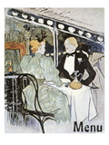 Toulouse-Lautrec: Menu Art by Henri Toulouse-Lautrec