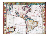 New World Map, 1616 Giclee Print by John Speed