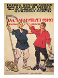 Russia: Soviet Poster, 1920 Giclee Print by Alexander Aspit