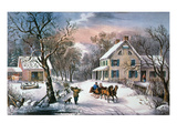 Homestead Winter, 1868 Giclee Print by Currier &amp; Ives 