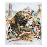 Monroe Doctrine: Cartoon Giclee Print by Bernhard Gillam