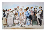 Cartoon: Women&#39;s Rights Giclee Print by Currier &amp; Ives 