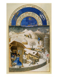 Book Of Hours: February Giclee Print