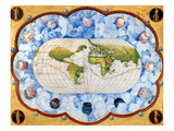 World Map Prints by Battista Agnese
