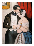 Lovers Reconciliation Poster by  Currier & Ives
