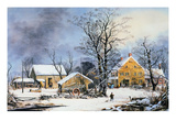 Currier &amp; Ives Winter Scene Giclee Print by Currier &amp; Ives 