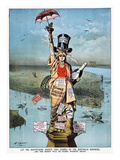 Statue Of Liberty Cartoon Giclee Print by Frederick Burr Opper