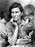 Migrant Mother, 1936. Fotografisk tryk af Dorothea Lange