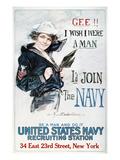 World War I: U.S. Navy Giclée-tryk af Howard Chandler Christy