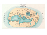 World Map: 500 B.C Giclee Print