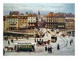 Vienna: Ferdinandsbreucke Giclee Print by Franz Poledne