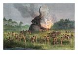 Prehistoric Mammoth Hunt Prints