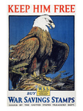 World War I: Saving Stamps Poster by Charles Livingston Bull