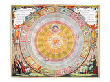 Copernican Universe, 1660 Giclee Print by Andreas Cellarius