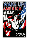 Wake Up America Day, 1917 Premium Giclee Print by James Montgomery Flagg