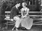 Silent Film Still: Couples Photographic Print