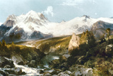 Moran: Teton Range, 1897 Art by Thomas Moran