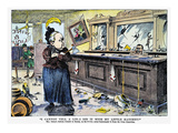 Carry Nation Cartoon, 1901 Giclee Print