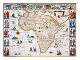 Map Of Africa, 1630 Giclee Print by Willem Janszoon Blaeu