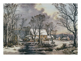 Currier & Ives: Winter Scene Giclee Print by  Currier & Ives