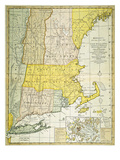 New England Map, C1775 Giclee Print