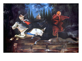 Crane And Horseman Giclee Print by William John Wilgus