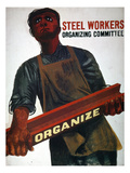 Shahn: Steel Union Poster Prints by Ben Shahn