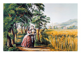 The Season Of Love Giclee Print by Currier & Ives