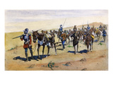 Coronado's March, 1540 Giclee Print by Frederic Remington