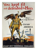 World War I: Vd Poster. Giclee Print by Ernest Fuhr