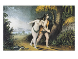 Adam And Eve Prints by  Currier & Ives