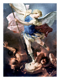 The Archangel Michael Giclee Print by Luca Giordano