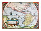 New World Map, 1570 Giclee Print by Abraham Oretelius