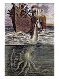 Sea Monster Giclée-tryk