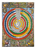 Ptolemaic Universe, 1537 Giclee Print by C. Comipolitanus
