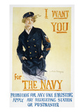 World War I: Navy Poster Premium Giclee Print by Howard Chandler Christy