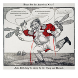 War Of 1812: Cartoon, 1813 Poster