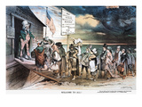 Pro-Immigration Cartoon Giclee Print by Joseph Keppler