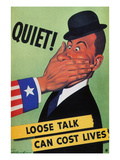 WWII: Careless Talk Poster Prints