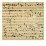 Mozart: Requiem Excerpt Giclee Print