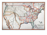 Map: United States, 1820 Giclee Print