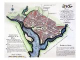 Washington, Dc, Plan, 1792 Giclee Print by Andrew Ellicott