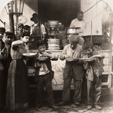 Spaghetti Vendor, C1908 Photographic Print