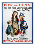 World War I: U.S. Poster Premium Giclee Print by James Montgomery Flagg