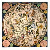 Celestial Hemisphere, 1790 Prints by James Barlow