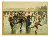 Ice Skating, C1886 Giclee Print by L. Prang