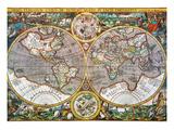 World Map, 1607 Giclée-Druck von Pieter Van der Keere