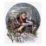 A Visit From St Nicholas Giclee Print by Thomas Nast