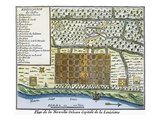 New Orleans, 1718-20 Premium Giclee Print
