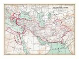 Map Of Macedonian Empire Premium Giclee Print